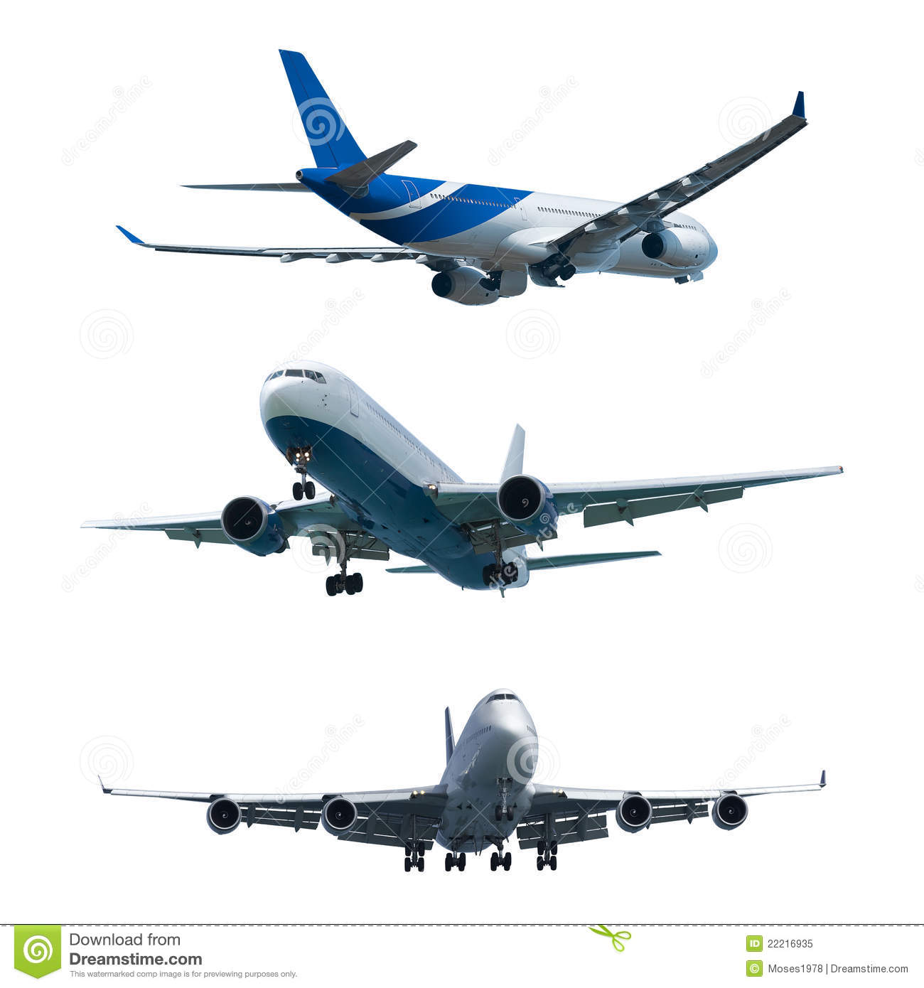 seven jet airplanes with white smocks stock photography image