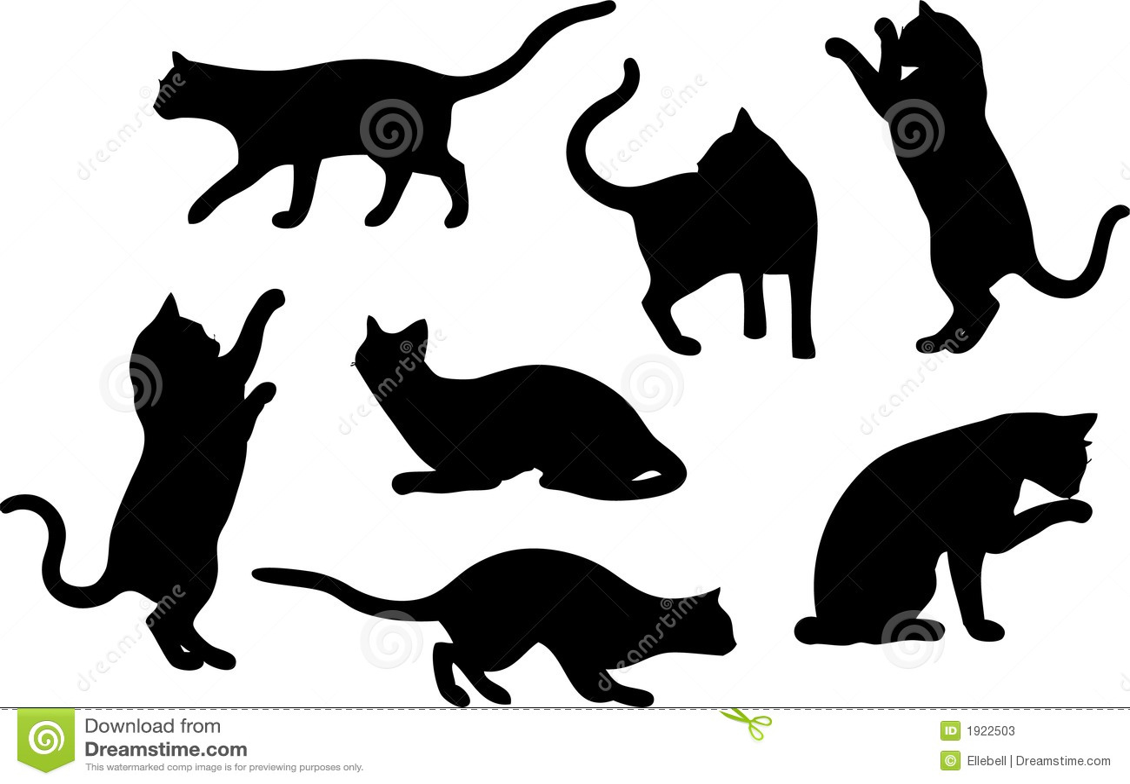 Set Katze-Schattenbilder Stockfotos - Bild: 1922503