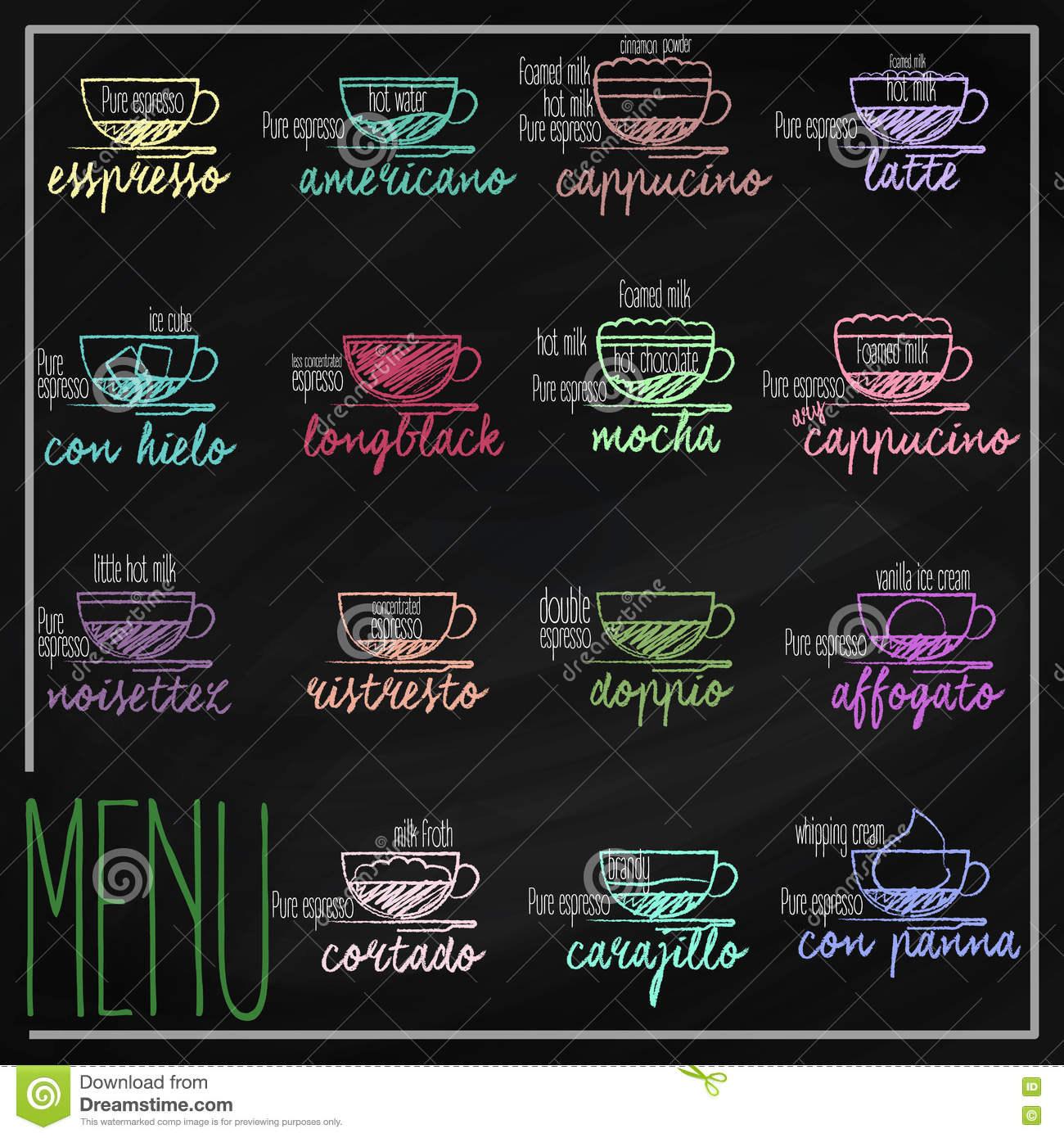 Set kawowy menu