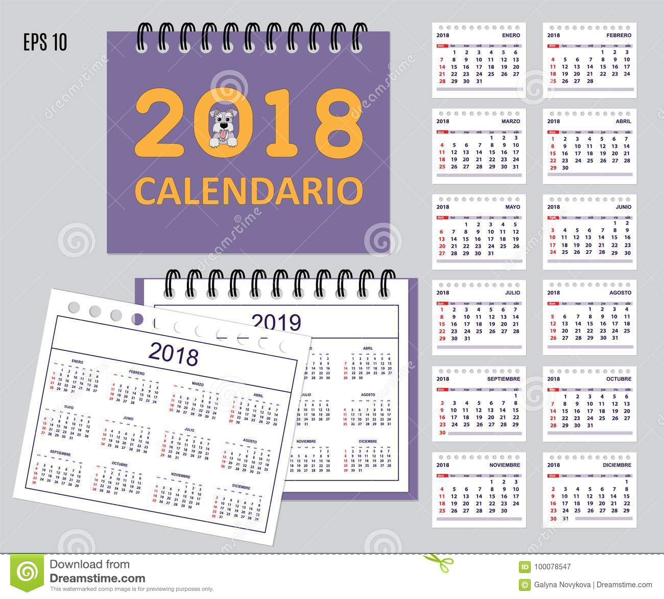 Cute Daily Calendar and To Do List Template Clipart Image
