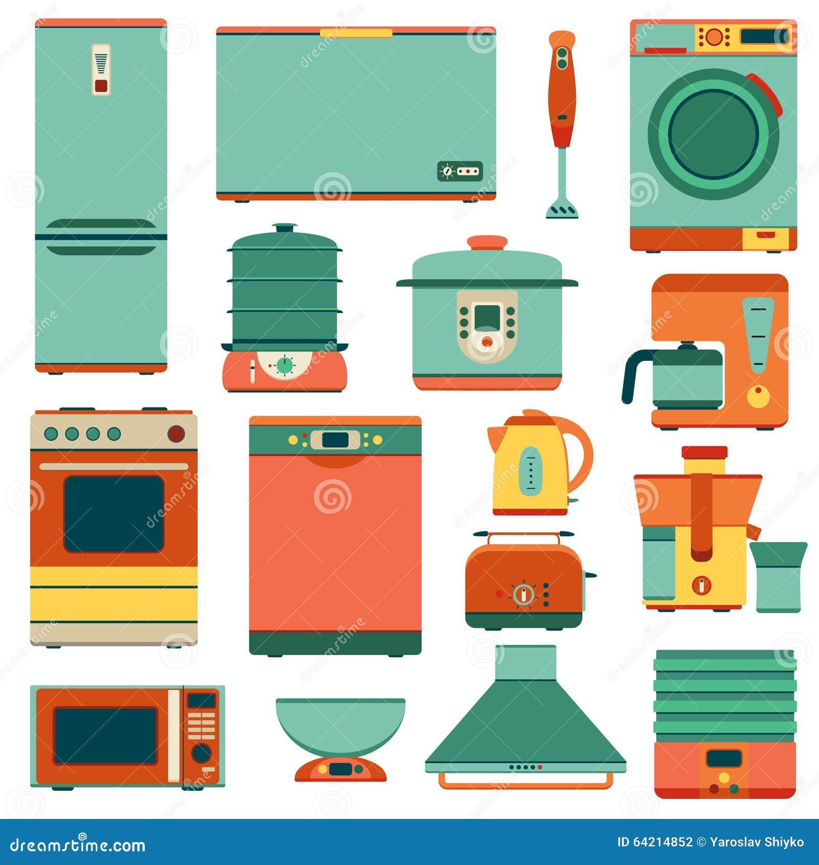 Uncategorized Set Of Kitchen Appliances set of kitchen appliances in flat style stock vector image 64214852 style