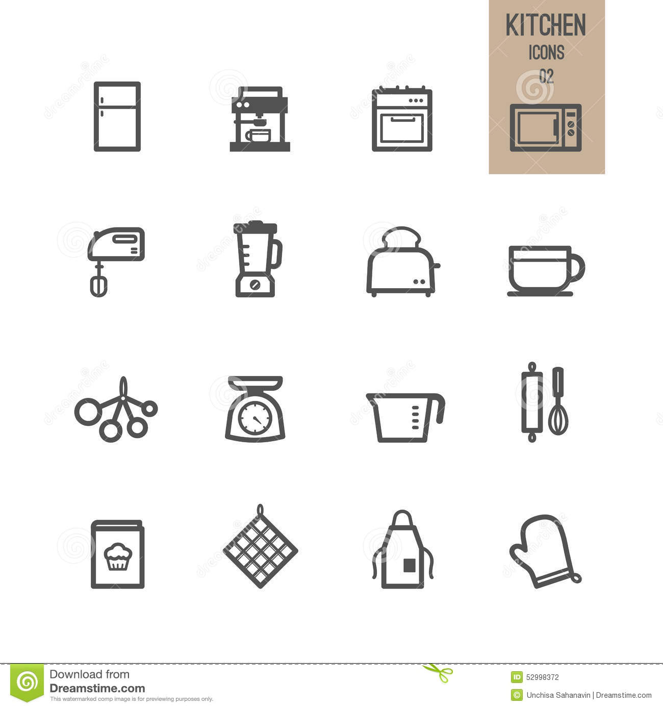 Set of kitchen icon stock vector illustration of dish for Kitchen set vector