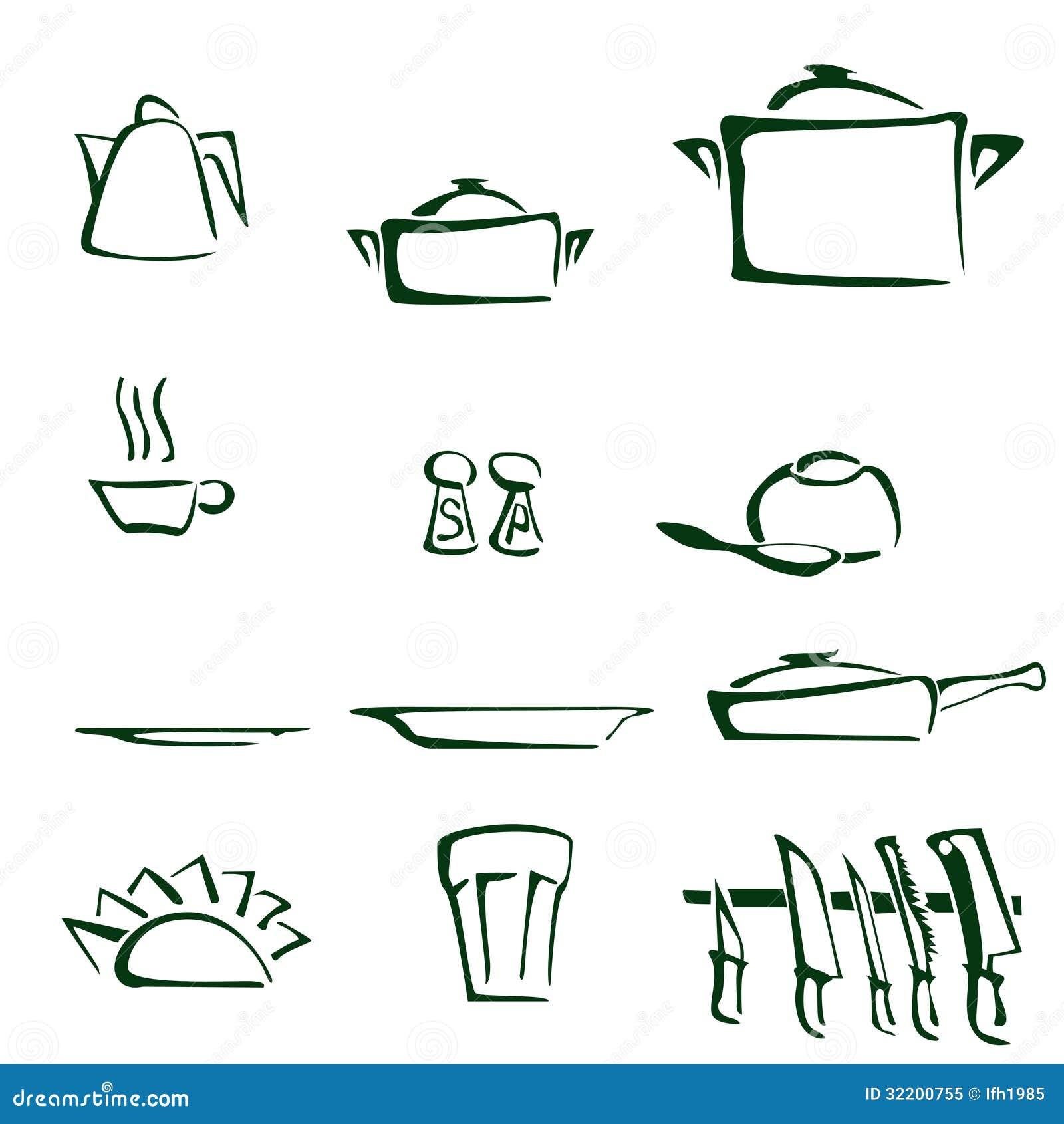 Set Of Kitchen Tools Royalty Free Stock Photo - Image: 32200755
