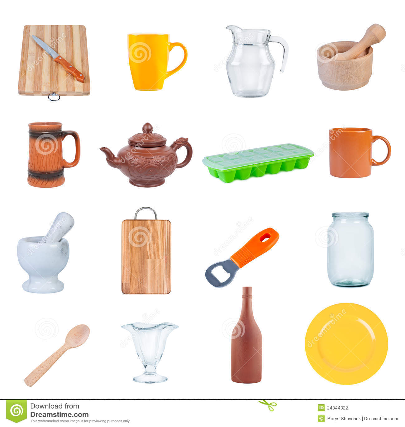 Dream Kitchen Utensils: Set Kitchen Utensils. Stock Photo. Image Of Appliances