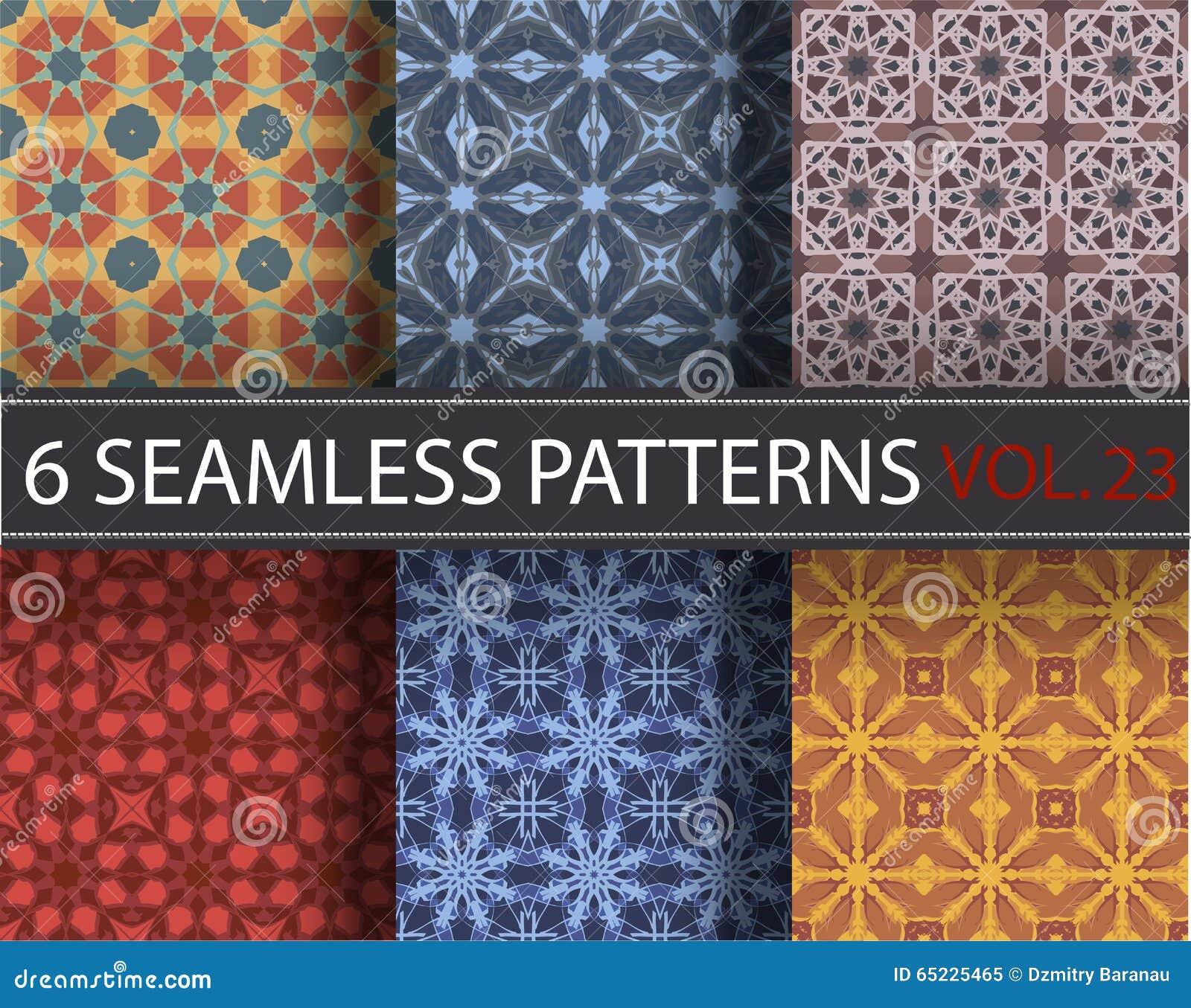 Set, kolekcja, juczni ogólnoludzcy wektorowi bezszwowi wzory, tafluje geometryczni ornamenty