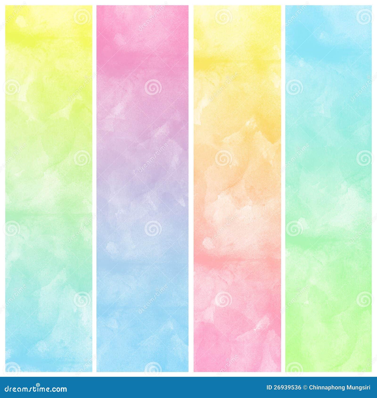 Set kolorowa Abstrakcjonistyczna wodnego koloru sztuki farba