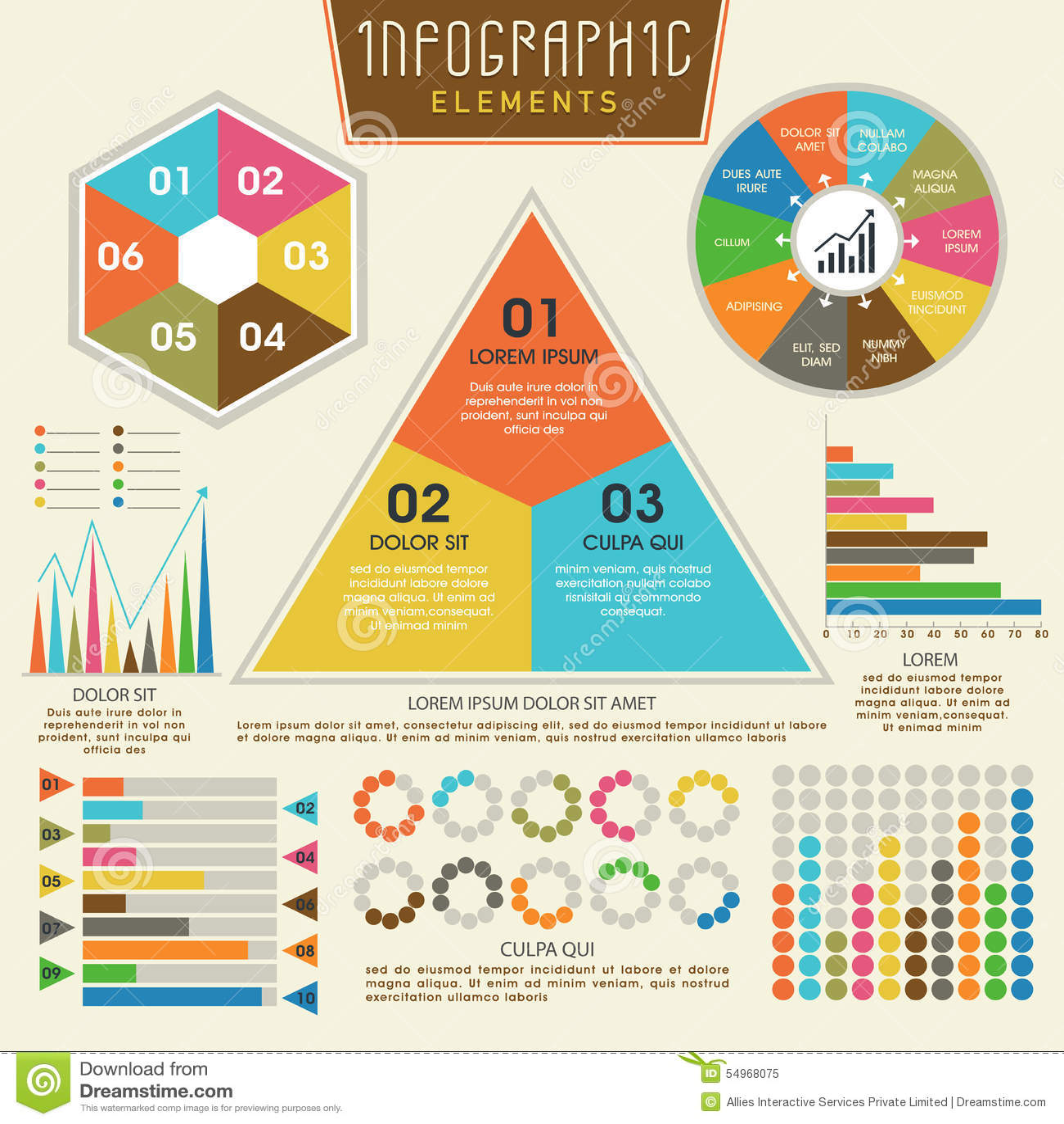 Set kolorowi infographic elementy dla biznesu