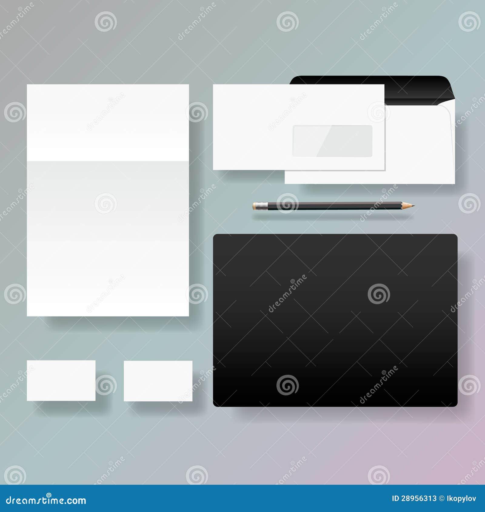 Set korporacyjnej tożsamości stylu szablonu projekt