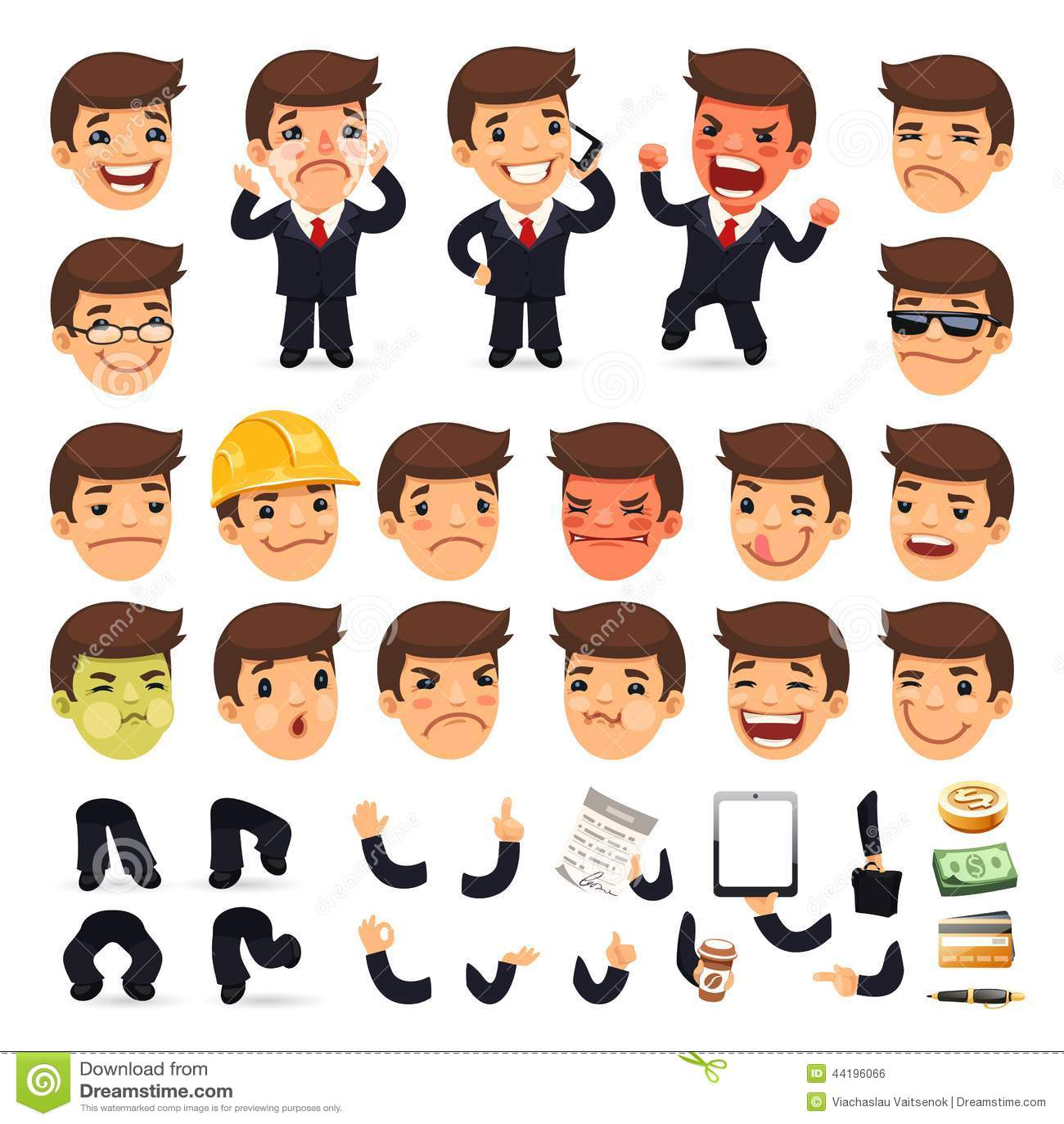 Set kreskówka biznesmena charakter dla Twój