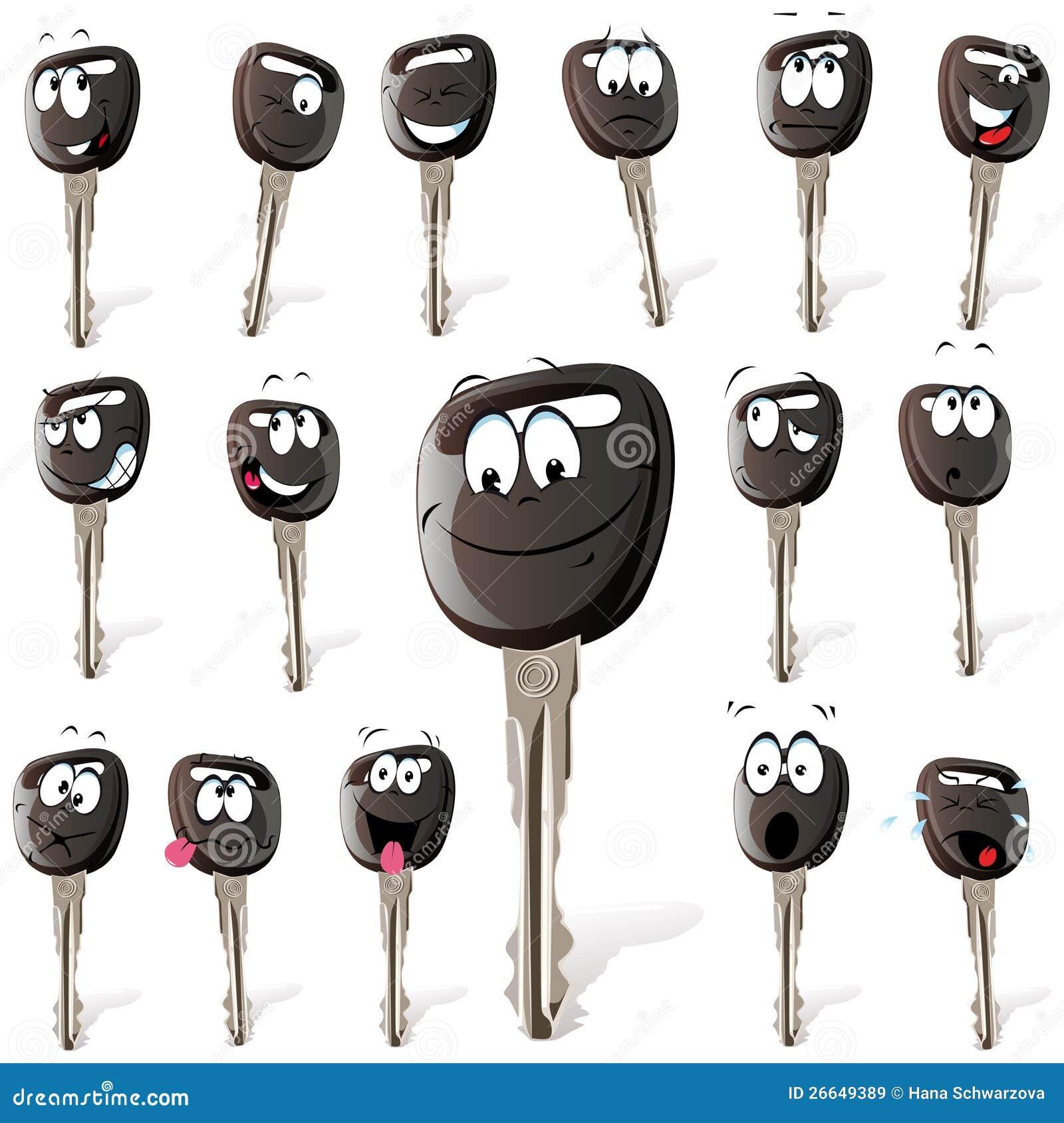 Set kreskówka klucze