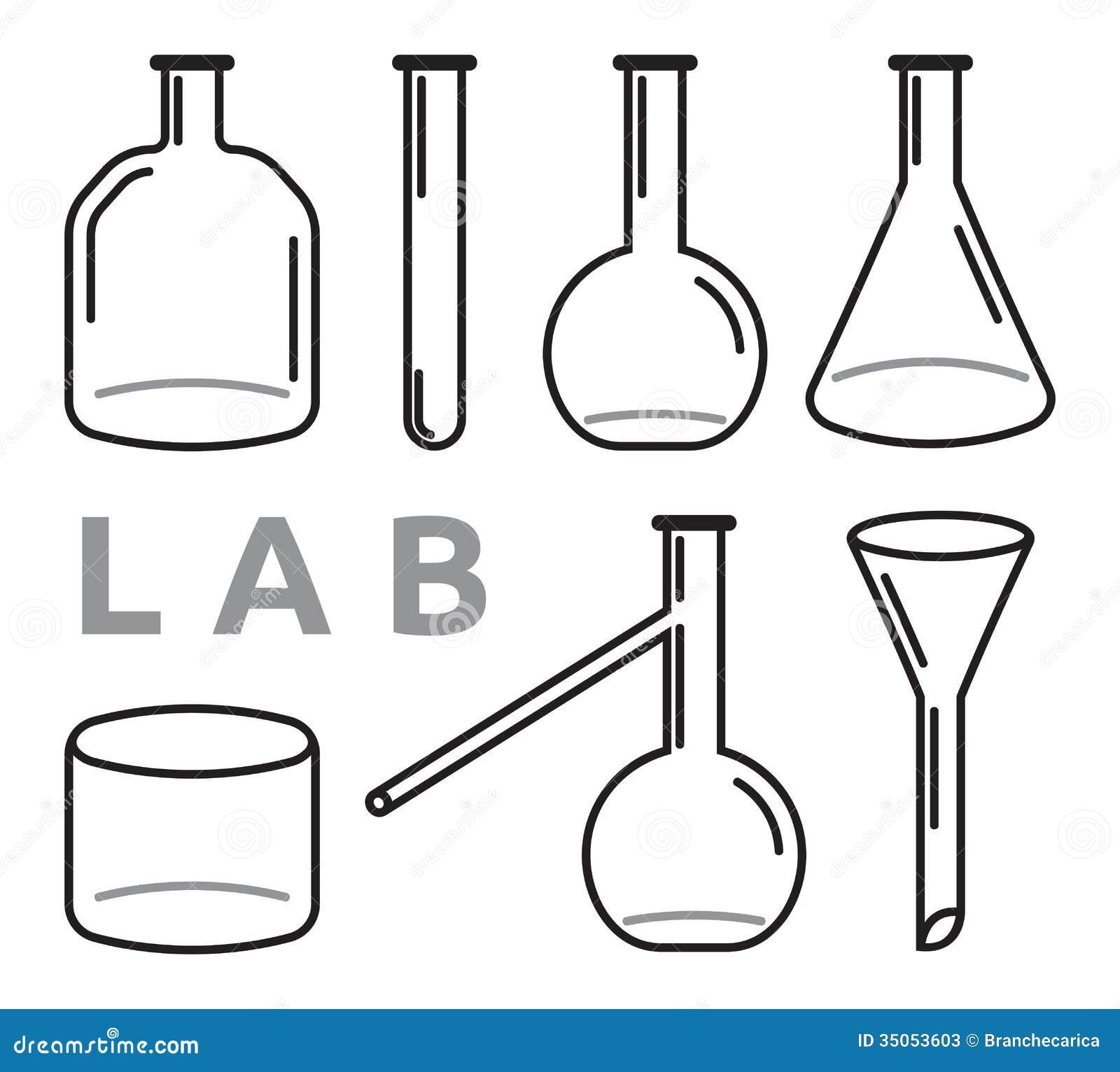 Science Lab Equipment Cartoon