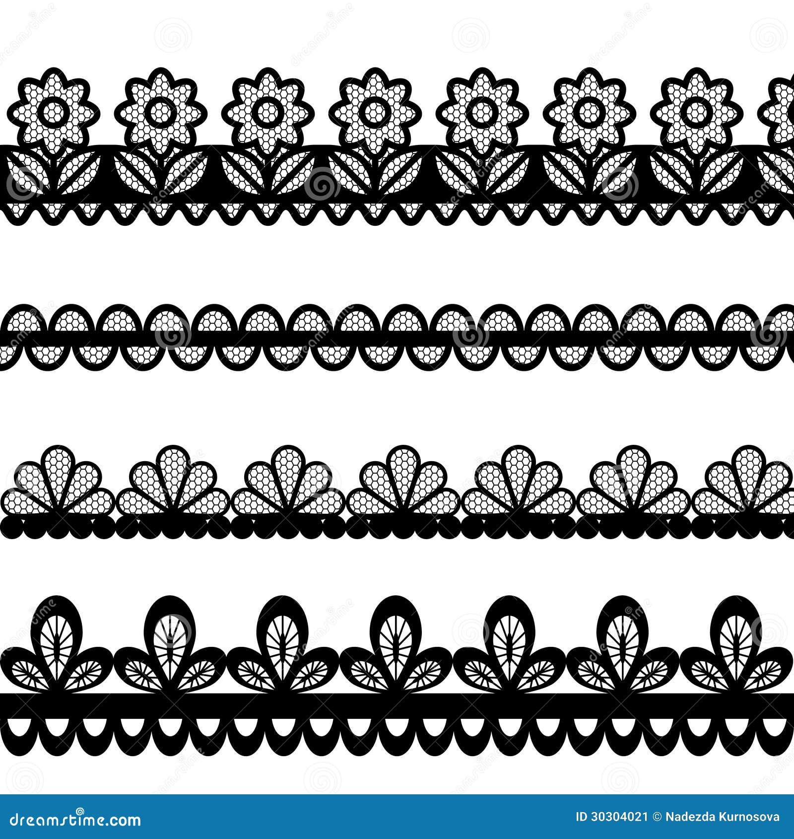 set of lace vector borders stock vector illustration of design rh dreamstime com black lace border vector lace circle border vector