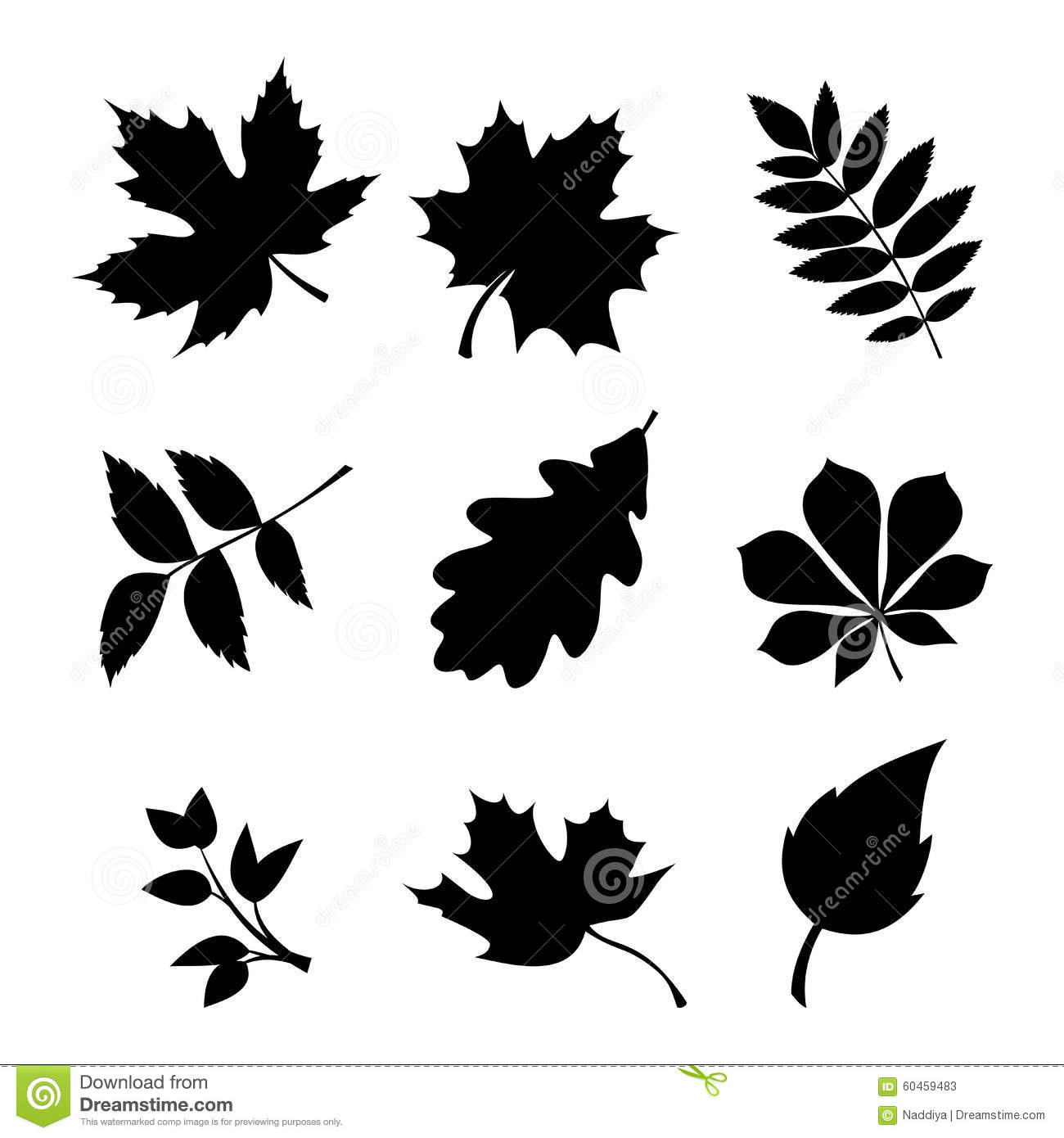 Leaves Silhouettes Vertical Torn Seamless Pattern