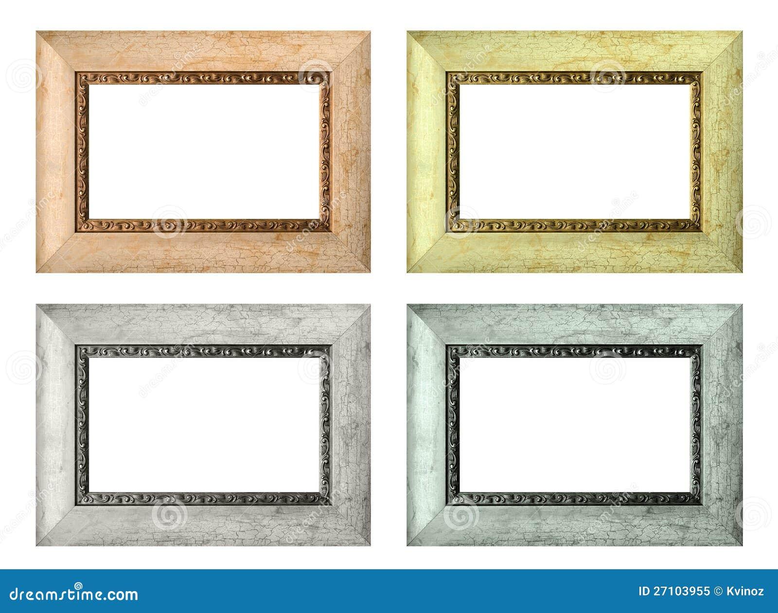 set leere bilderrahmen der farbe getrennt lizenzfreies stockfoto bild 27103955. Black Bedroom Furniture Sets. Home Design Ideas