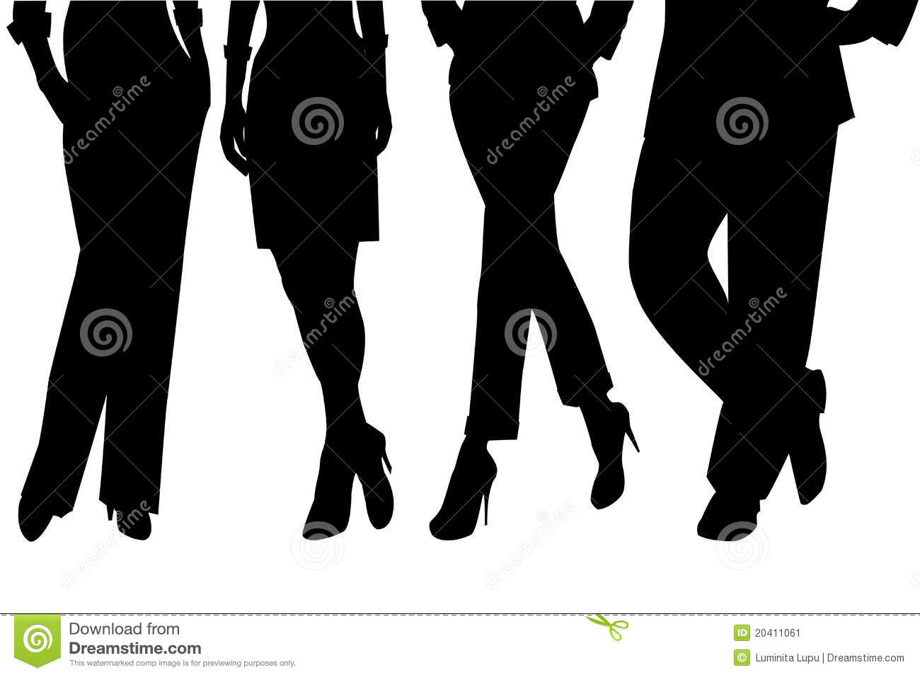 Set Of Legs Silhouettes Stock Image - Image: 20411061