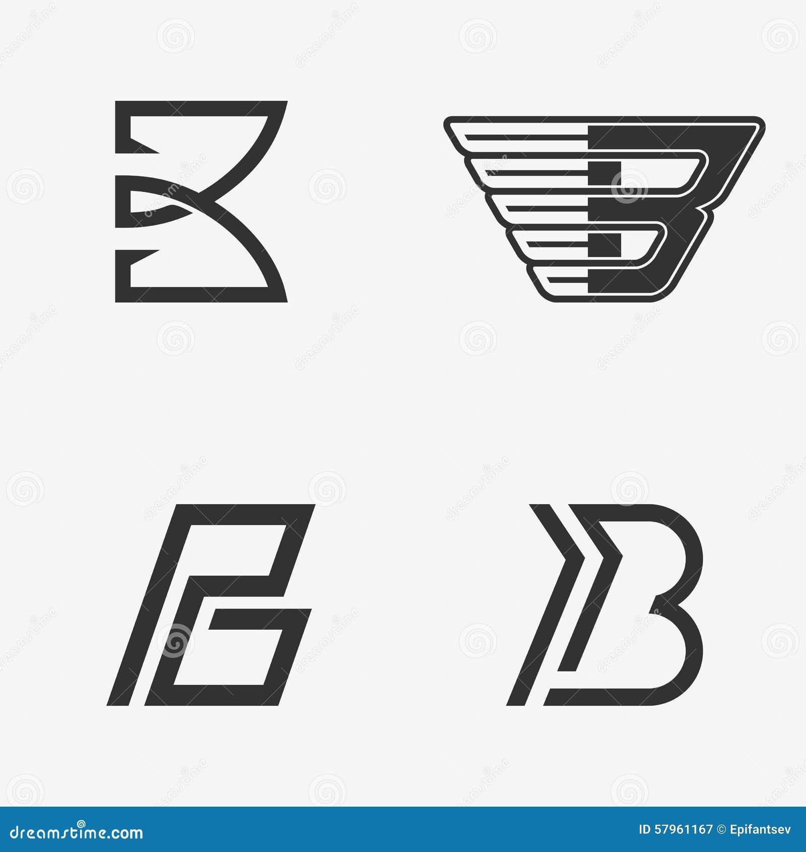 The set of letter b sign logo icon design template elements the set of letter b sign logo icon design template elements pronofoot35fo Image collections