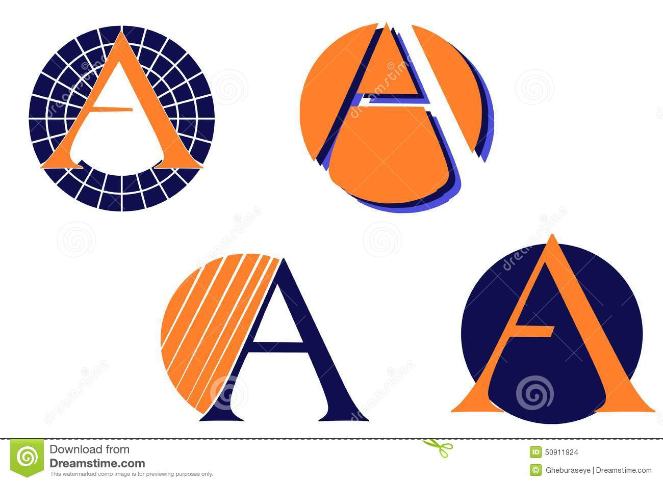 Set Of Letter A Logos Isolated Stock Vector Image 50911924