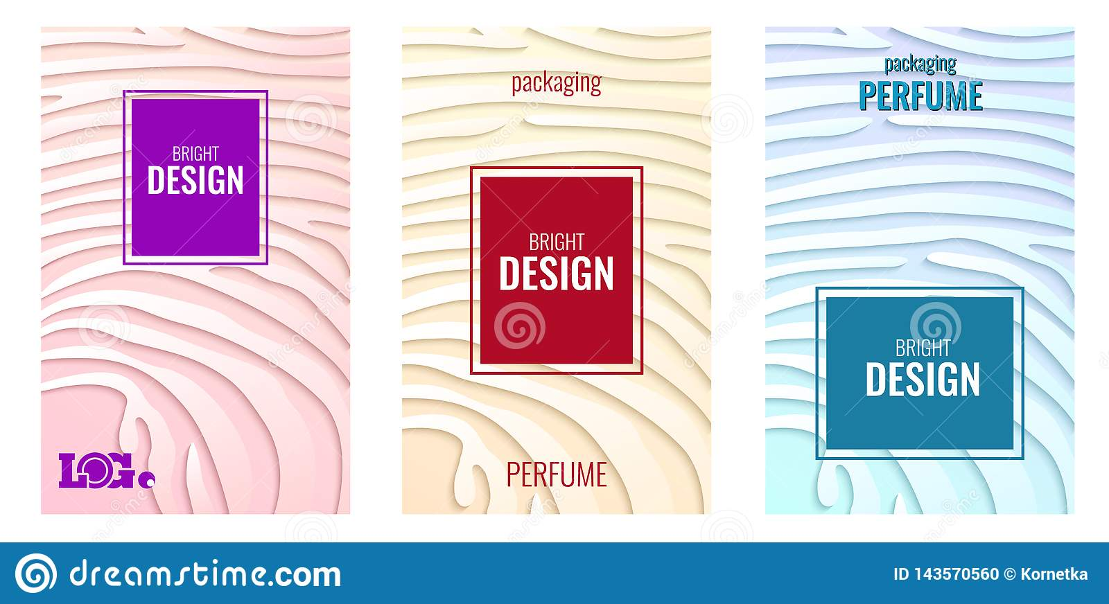76f4ef11160a2 Set Light Vertical Abstract Background For Perfume. Paper Strips On ...