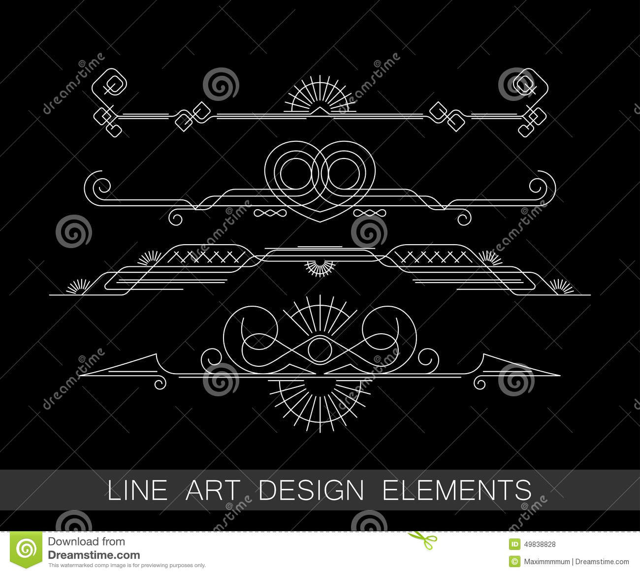 Line Art Border Design : Ornamental border insignia cartoon vector cartoondealer