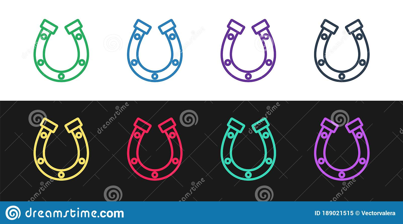 Horseshoe Black White Stock Illustrations 2 080 Horseshoe Black White Stock Illustrations Vectors Clipart Dreamstime