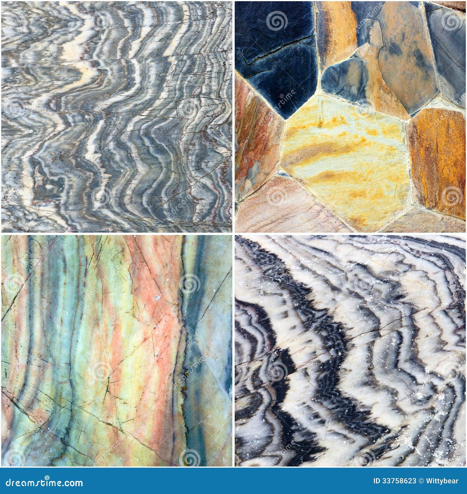 Set linia na krzywa marmuru kamienia tekstury tle