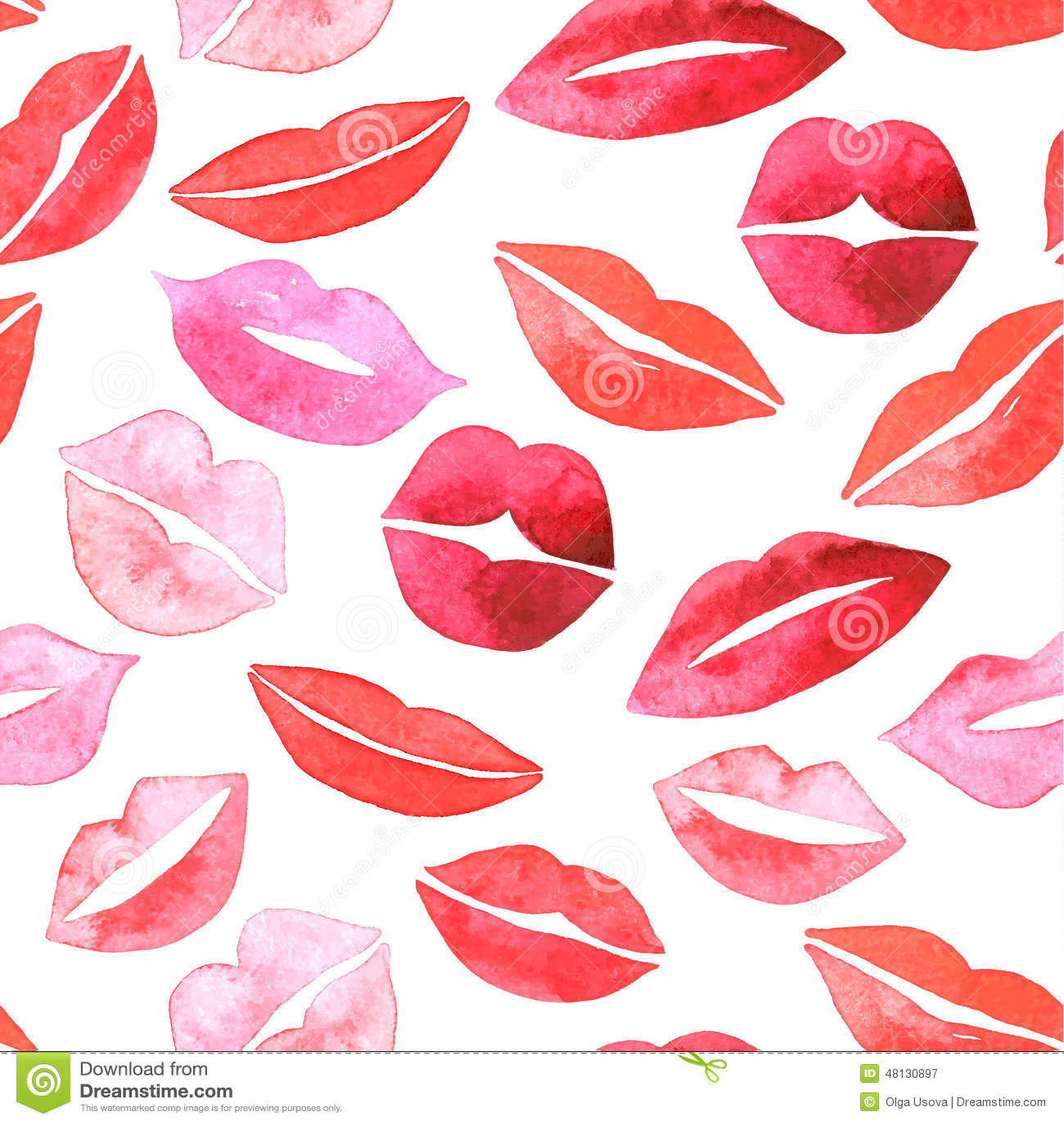 Set of lips. Flat icons.