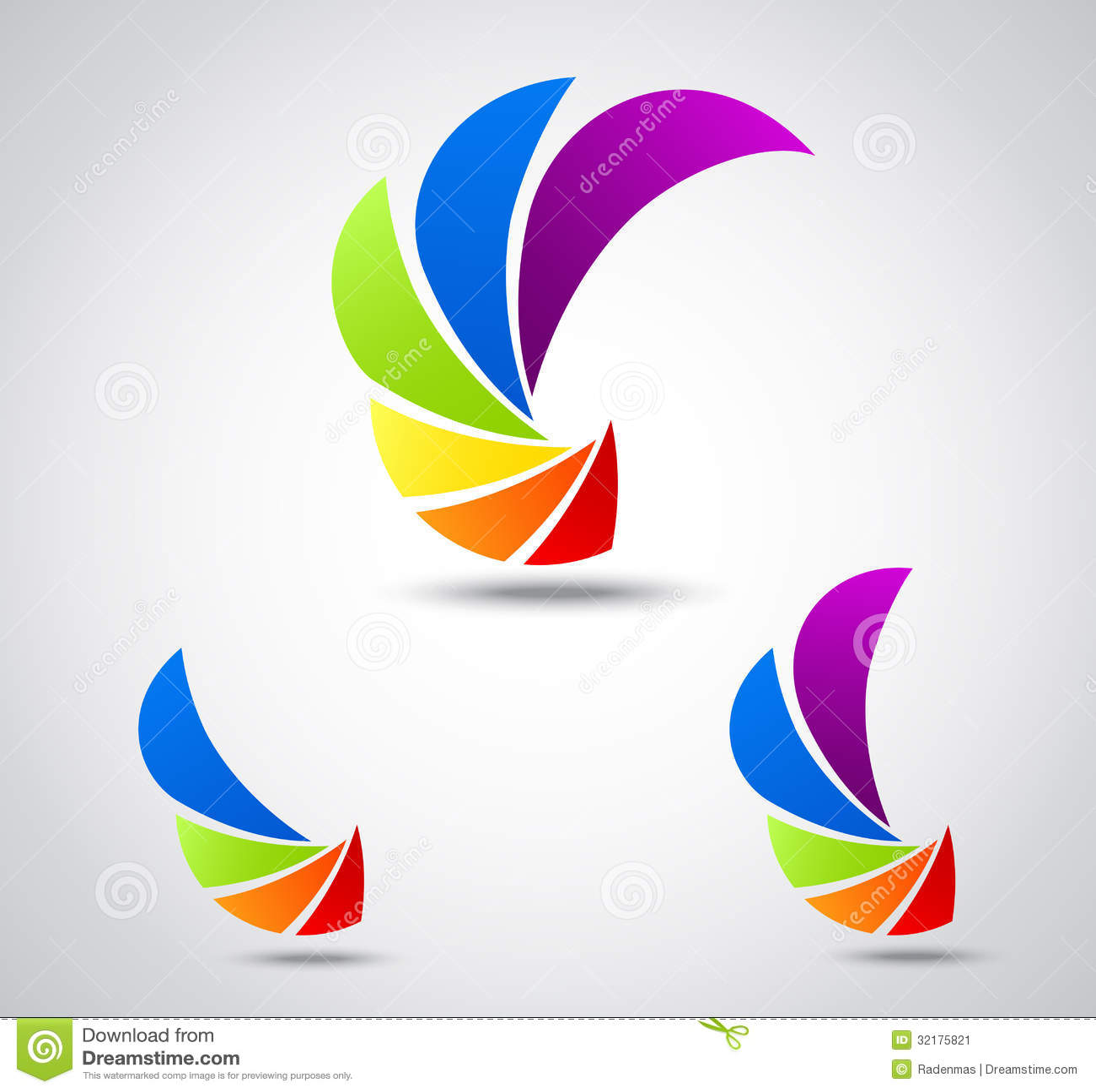 Set Logo Business . Colorful Shutter Stock Image