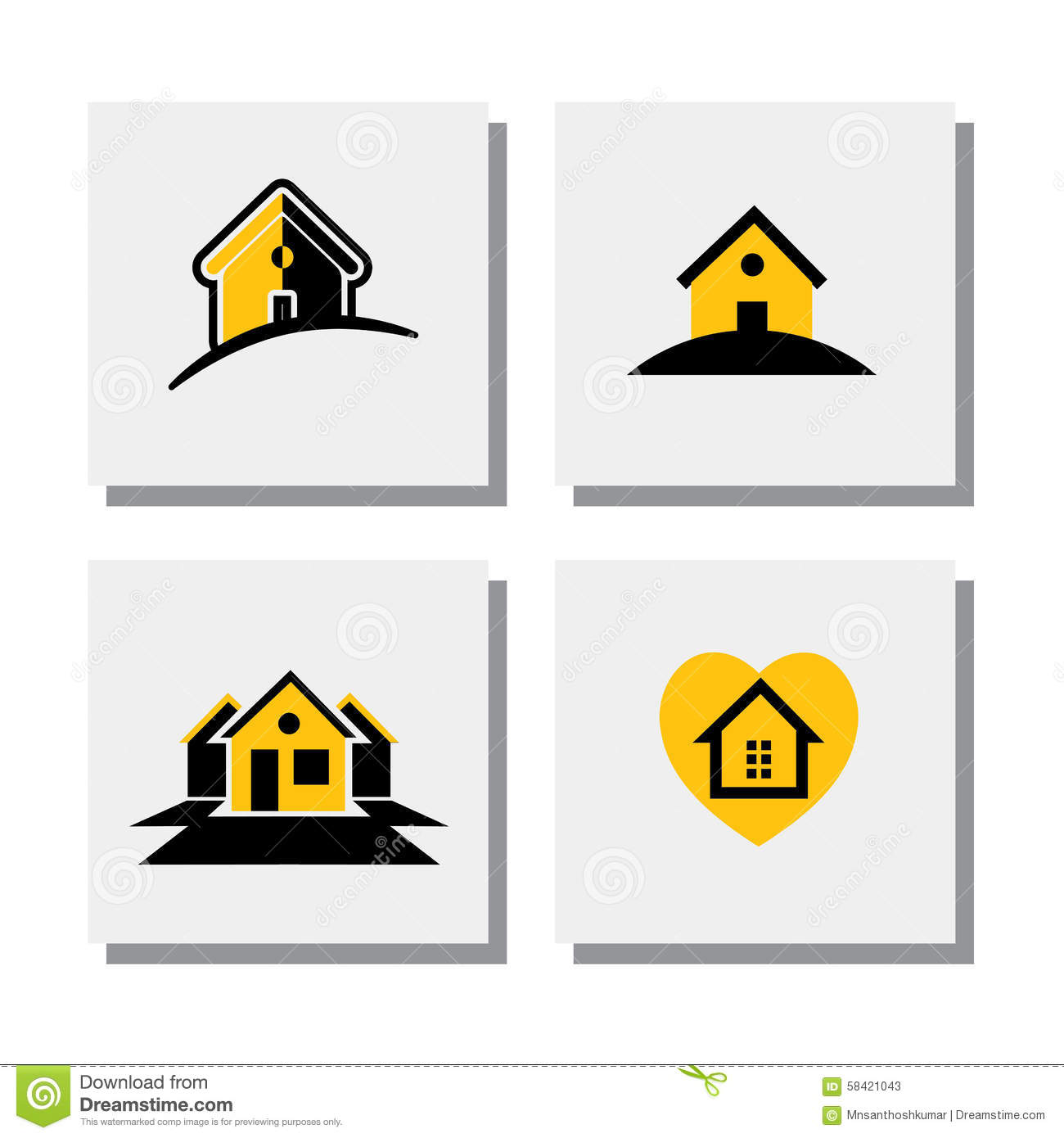 Set Of Logo House Or Home Designs - Vector Icons Stock Vector ...