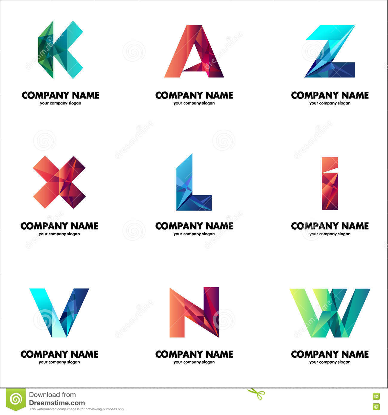 A Set Of Logos For Your Business The Initial Letters Of