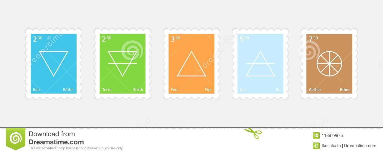 Set Of Main Elements Stock Vector Illustration Of Mail 118879875