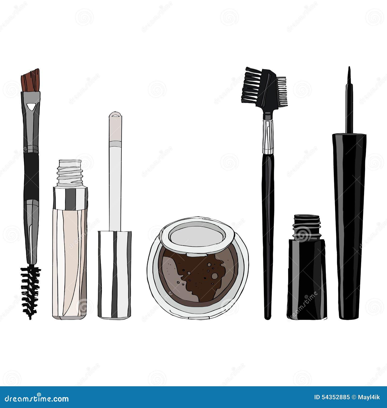 makeup brush vector - photo #33