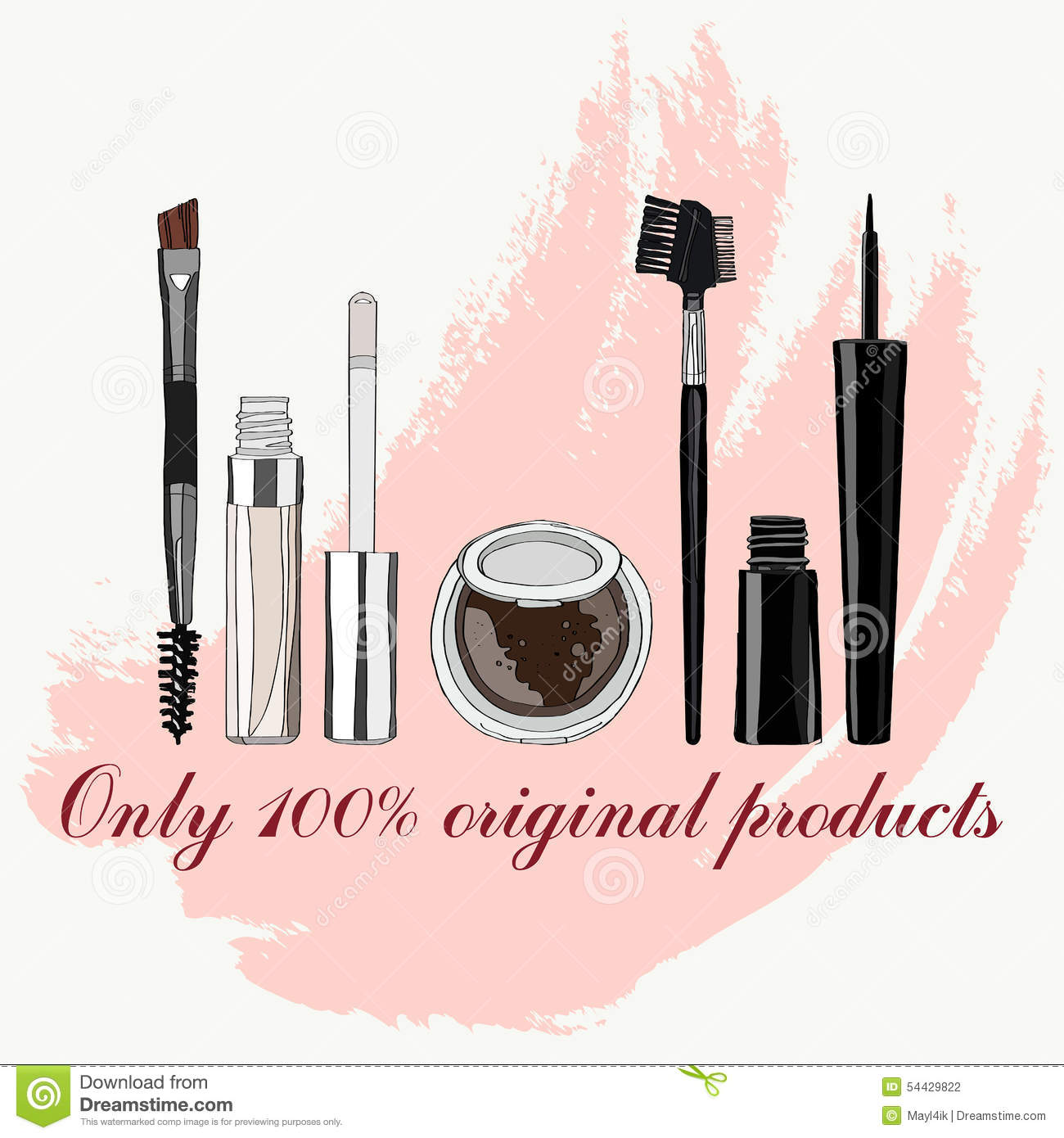 Set Of Makeup For The Eyes Stock Vector Illustration Of Background