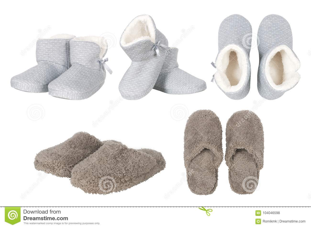 3ccde98699c Set Of Male And Female Slippers Stock Photo - Image of isolated ...