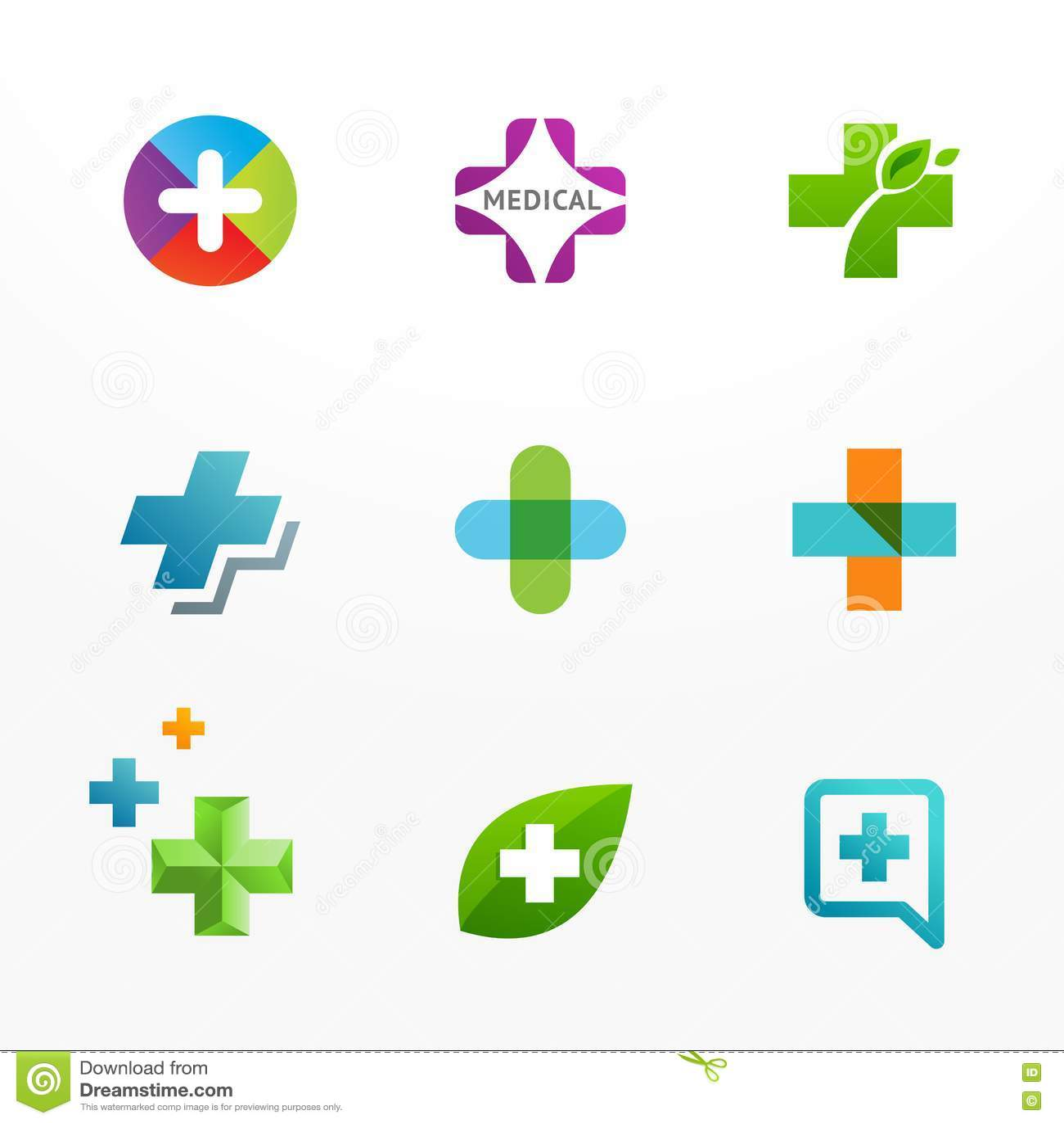 logo set circle signs and symbols stock vector illustration of