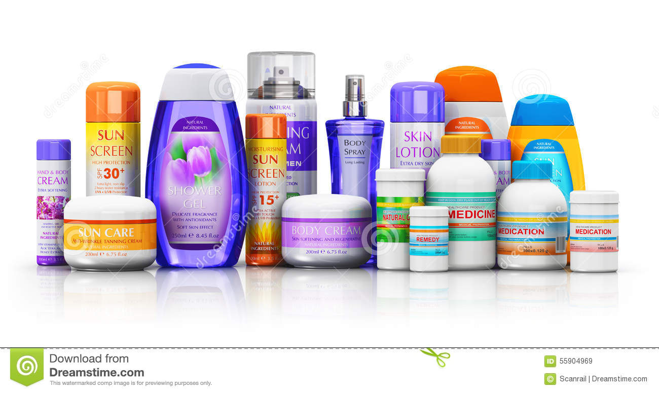 Medical Supplies Product : Set of medical supplies cosmetic and healthcare products