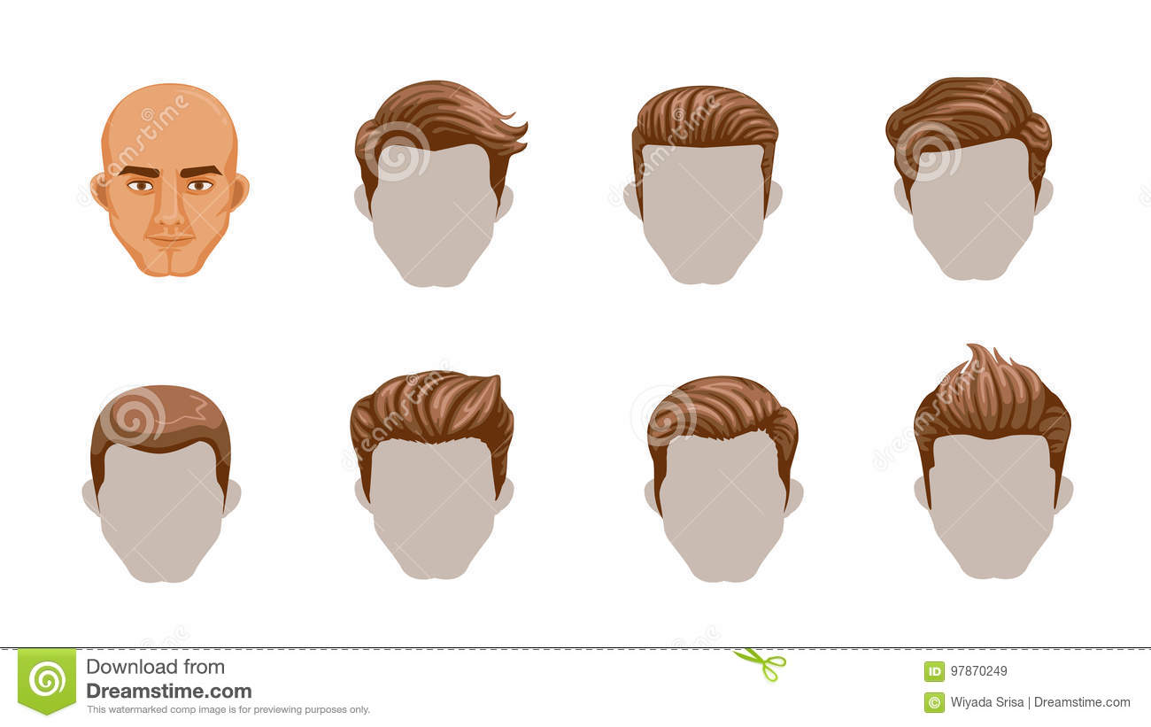 Hair Man Stock Vector Illustration Of Classic Collection 97870249