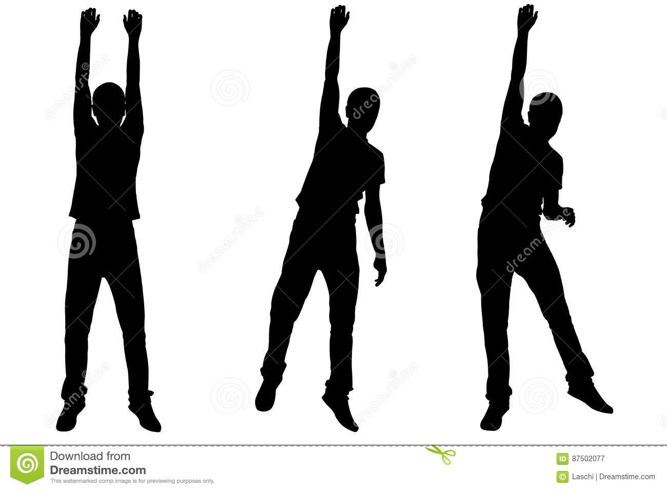 set of men hanging silhouettes stock vector illustration of