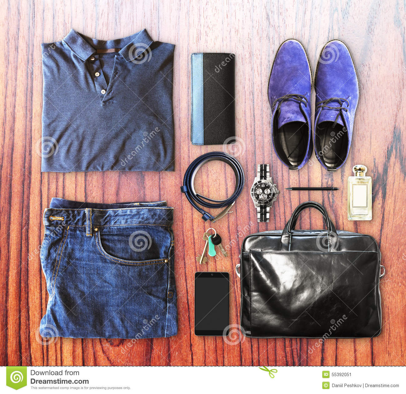 aad1be25060 Set Of Men s Clothing And Accessories Stock Image - Image of classic ...