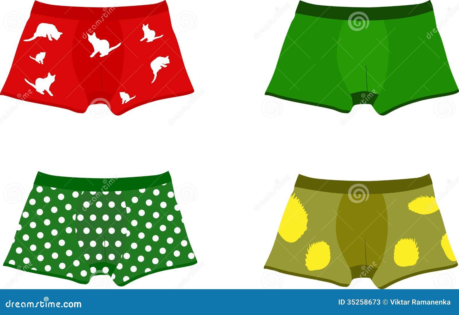Set of men's underpants stock vector. Illustration of ...