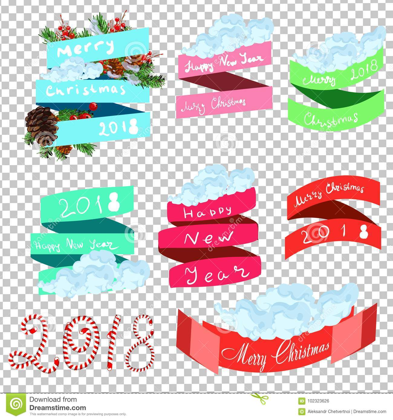 Classy Christmas Banners Pink Yellow Banners
