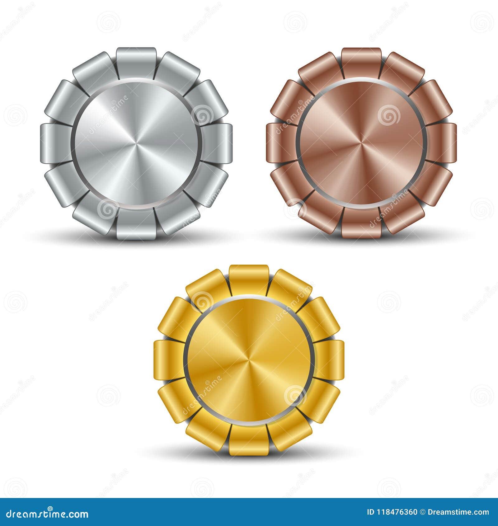 Set of metal medallions billet