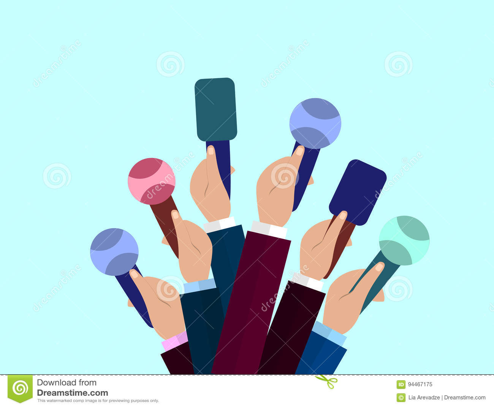 Set mikrofony Dziennikarstwa pojęcie, środki masowego przekazu, TV, wywiad, wiadomość dnia, konferenci prasowej pojęcie Mikrofony