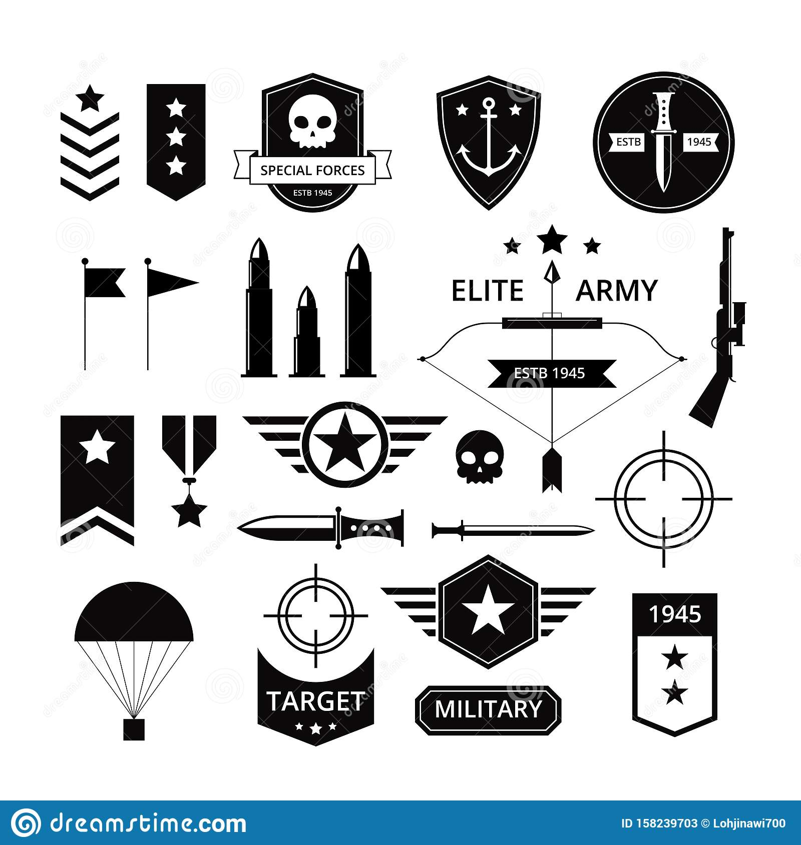 Military Badges Stock Illustrations – 1,042 Military Badges Stock  Illustrations, Vectors & Clipart - Dreamstime