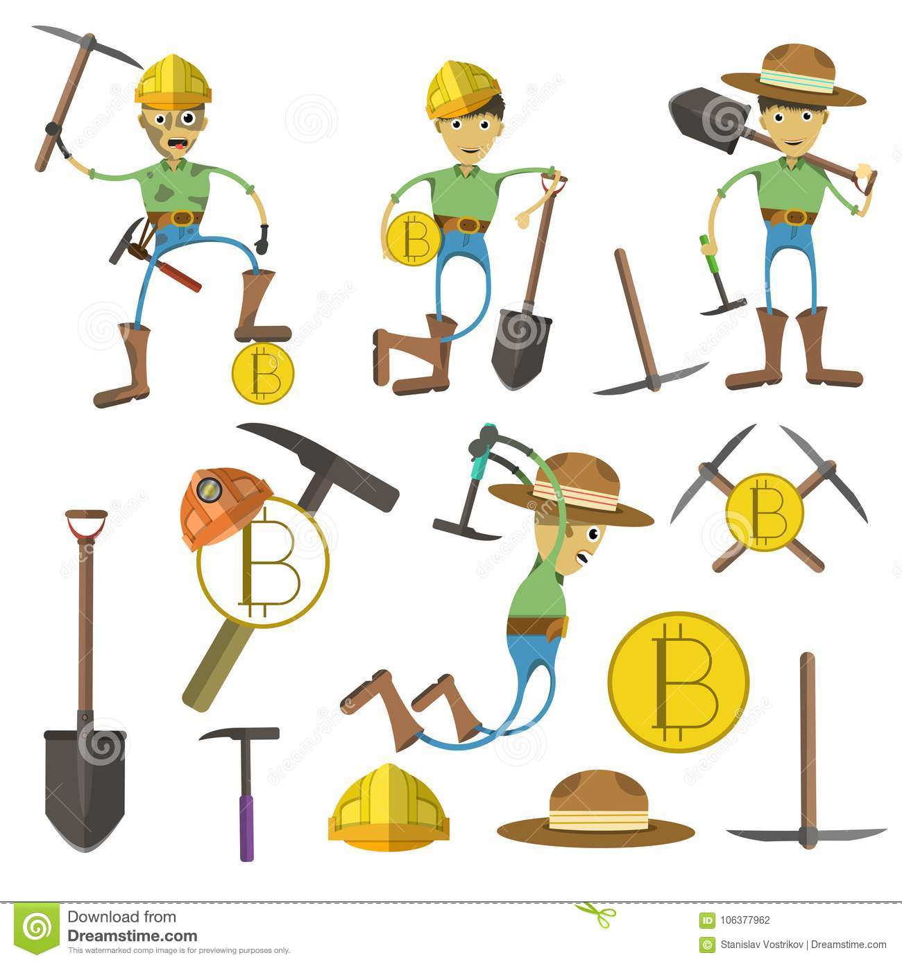 Miningclipart: Cryptoccurrency Mining Design Stock Vector