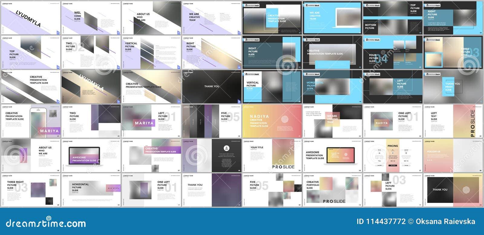 set of minimal presentations portfolio templates simple elements