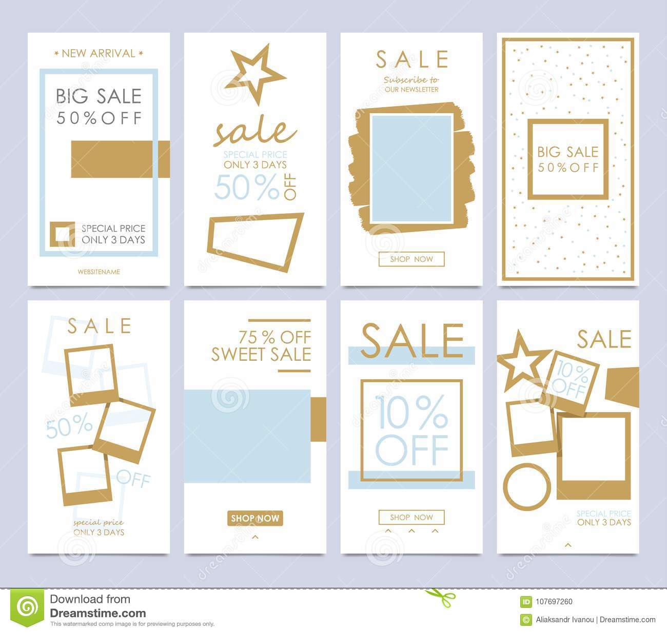 Set Mobile Sale Banners Stories Templates Is A Powerful Social