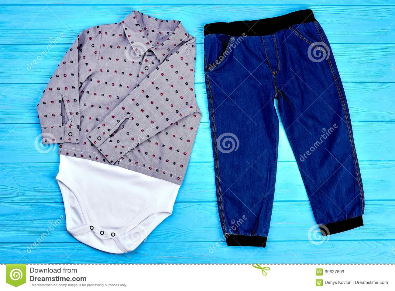 0350d4fed Set Of Modern Clothes For Baby-boy. Stock Image - Image of ...