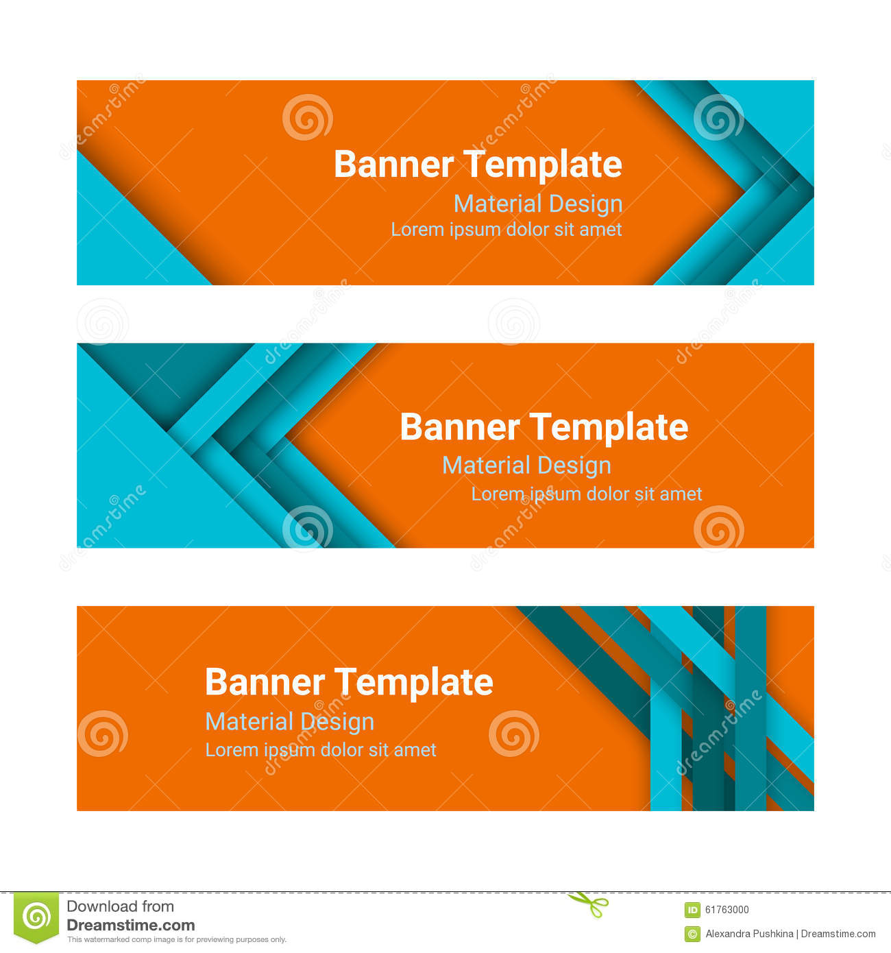Design vector banner - Set Of Modern Colorful Horizontal Vector Banners In A Material Design Style Stock Photo