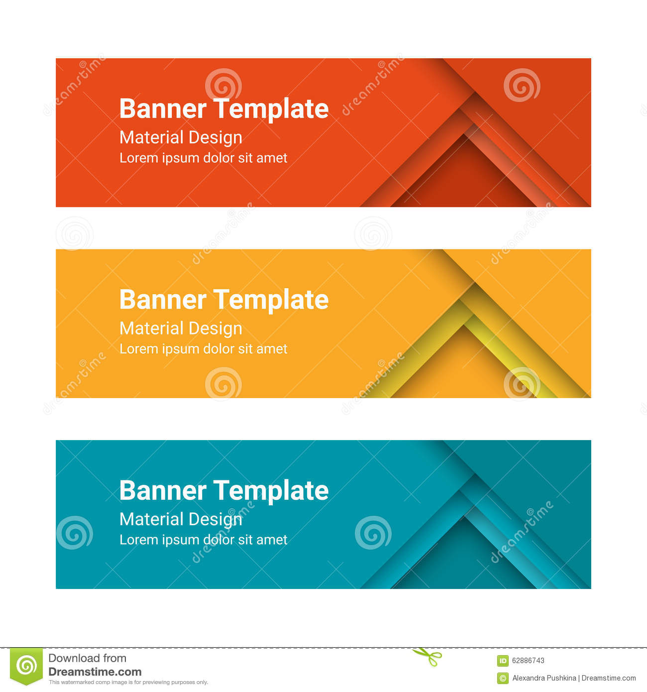 set of modern colorful horizontal vector banners in a material design style can be used as a. Black Bedroom Furniture Sets. Home Design Ideas