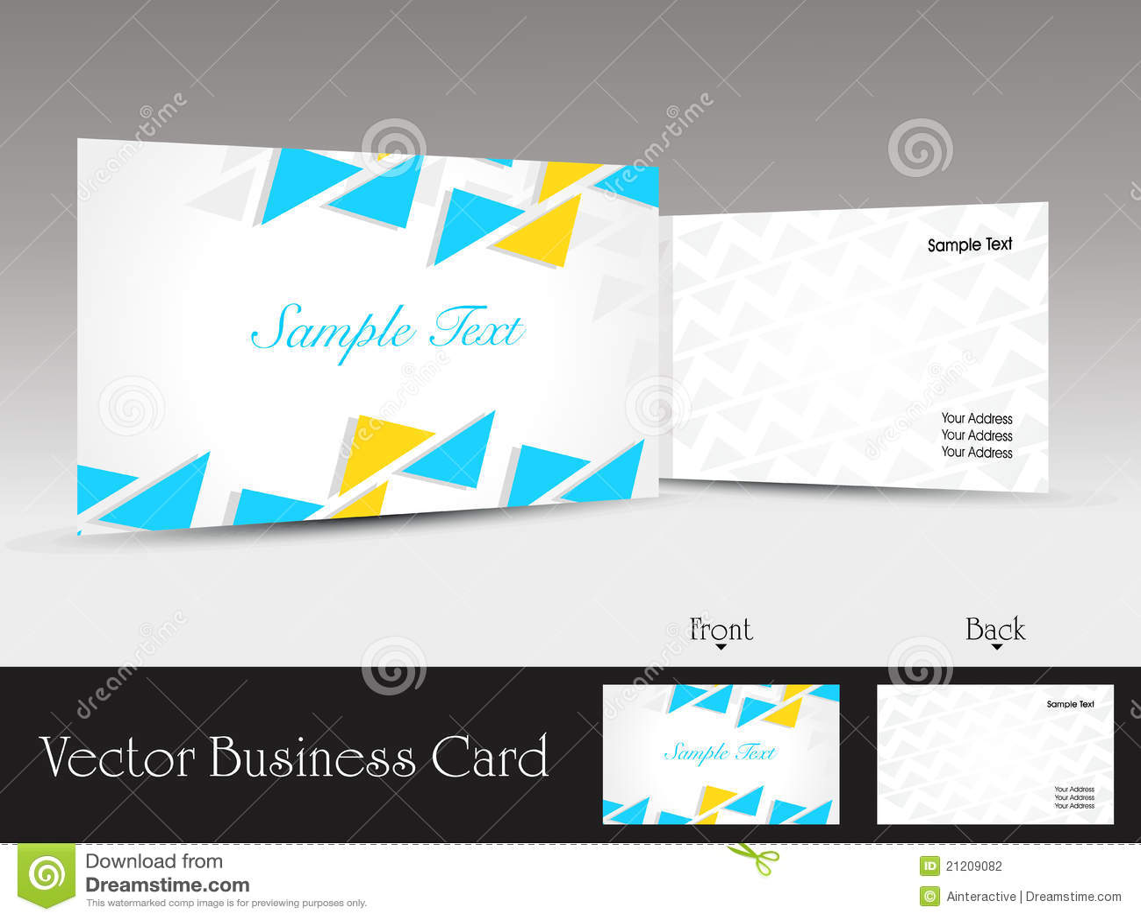 Set of modern design vector business card template stock vector image 21209082 for Business card template vector